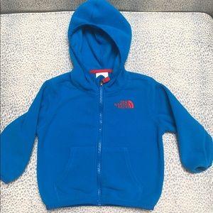 North Face fleece hoodie- pristine condition